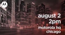 2 августа Motorola проведет большой анонс новинок
