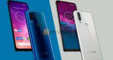 Рендер Motorola One Vision: тройная камера и дисплей с «дыркой»
