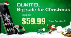 Рождественская распродажа Oukitel K4000, K6000 и смарт-часов A29 в интернет-магазине Everbuying.net