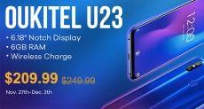 Oukitel U23 продают за $209,99 и киберпонедельник с Gearbest