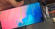 Samsung Galaxy S10+ с дисплейным сканером на видео