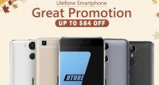 Осенняя распродажа Ulefone Power, Future и Metal в магазине Tomtop.com
