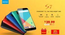 Ulefone S7 приходит по специальной цене $39,99 в рамках предзаказа
