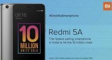 Xiaomi Redmi 5A самый быстро растущий миллионник по продажам в Индии