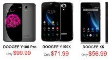 Doogee Y100 Pro, Doogee Y100X и Doogee X5: осенний ценопад