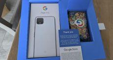 Вместе с Google Pixel 4 XL пользователь получил в подарок завтрак