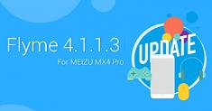 Обновление Flyme 4.1.1.3 для смартфона Meizu MX4 Pro