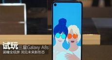 Samsung Galaxy A8s позирует на «живых» фото