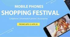 Фестиваль низких цен на смартфоны, смарт-часы и аксессуары в магазине Gearbest с 13 по 20 апреля