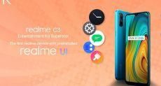 Realme C3 будет работать на новом интерфейсе Realme UI