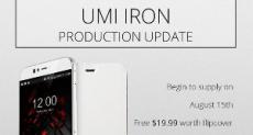 Поставки UMI Iron задерживаются и начнутся не ранее 15 августа