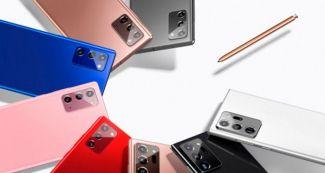 Красный, синий, розовый: выбирай эффектный Samsung Galaxy Note 20