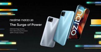 Представлены Realme Narzo 20, Narzo 20A и Narzo 20 Pro: характеристики и цена